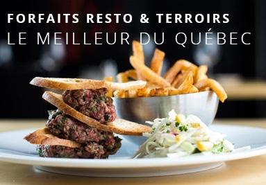 Forfaits restaurants et terroir du Québec
