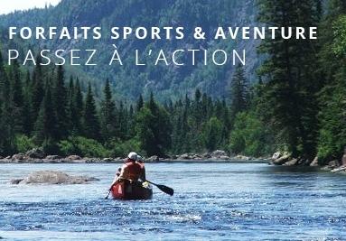 Forfaits sports & aventure, des centaines de forfaits au Québec